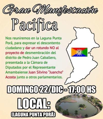 Se manifestarán contra la distritación de Chiriguelo