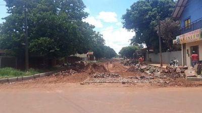 Municipalidad encara trabajos de pavimentación en barrio San Blas