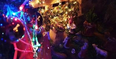 Colorido concurso navideño en Luque •