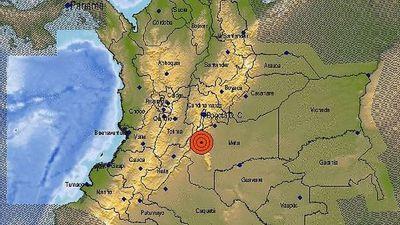 Un sismo de magnitud 6 sacude el centro de Colombia sin causar daños