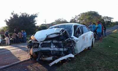 Accidente de tránsito deja un fallecido y tres heridos en San Estanislao