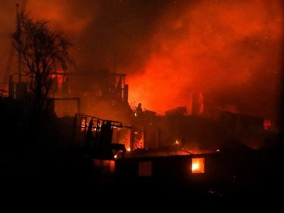 Mario Abdo se solidariza con Chile por incendios en Valparaíso