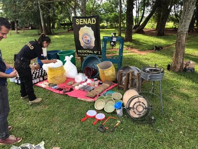 Desmantelan laboratorio de cocaína en Minga Guazú