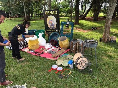 Desbaratan laboratorio de drogas en Minga Guazú