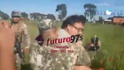 Militar que agredió a periodistas formuló denuncia