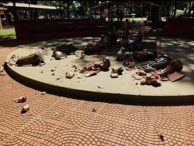 Inadaptados destruyen pesebre en Minga Guazú