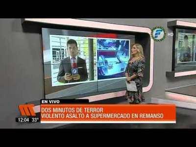 Violento asalto a supermercado en Remansito
