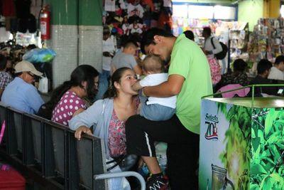 Dinatran emite recomendaciones ante gran afluencia de pasajeros en terminales