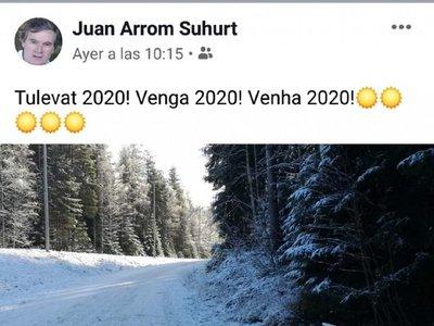 Arrom difunde fotografía en sus redes sociales a la espera del Año Nuevo