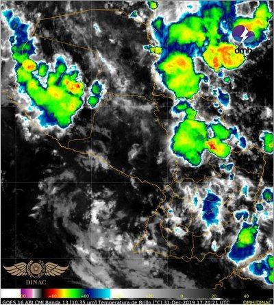 Alerta meteorológica para diez departamentos