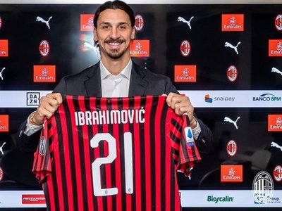 Ibrahimovic firma con el Milan para los próximos seis meses