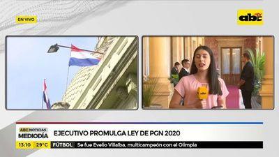Ejecutivo promulga ley de PGN 2020