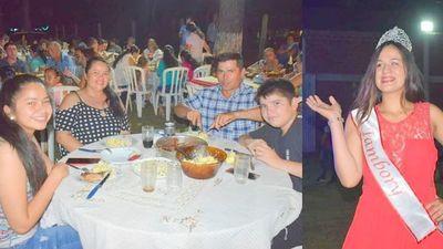 Tradicional cena de fin de año en Tambory Misiones