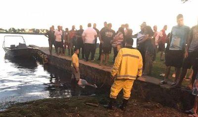 Hombre se ahoga en el Lago Itaipú