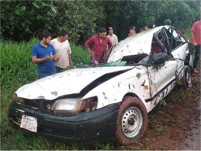 Accidente deja cinco personas heridas en Alto Paraná