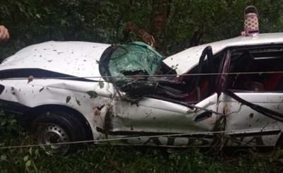 Vuelco de vehículo deja cinco heridos