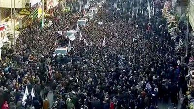 «Muerte a América, muerte a Israel», fue el grito de los iraquíes en el funeral del líder Soleimani