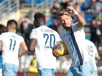Lazio suma noveno triunfo seguido y se coloca a tres puntos del liderato