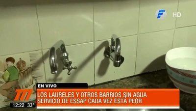 ESSAP vuelve a dejar sin agua a barrios de Asunción