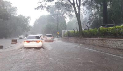 HOY / Tormenta causa estragos en Asunción: raudales, semáforos sin funcionar y árboles caídos