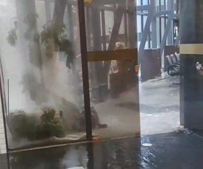 El Congreso Nacional bajo agua tras el temporal