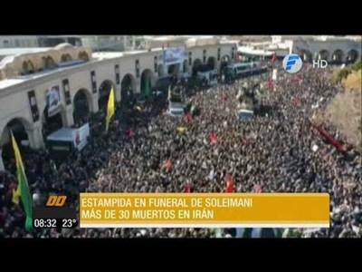 Estampida durante el funeral de Soleimani deja decenas de muertos y heridos