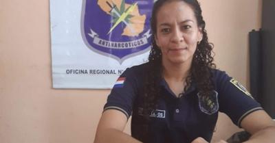 Policía Kuña, al mando de Antinarcóticos en el norte del país