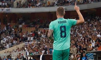 Toni Kroos metió un gol olímpico en la clasificación del Real Madrid