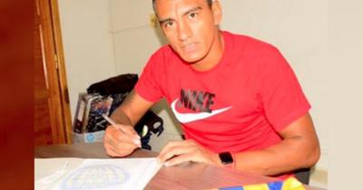 Jorge firmó y ya es jugador de Luqueño