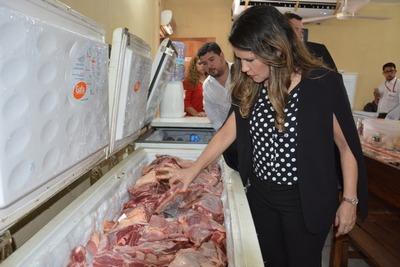 Ministra controló alimentos a ser destinados a las personas privadas de libertad