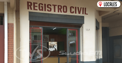 Reducen funcionarios en el Registró Civil de Encarnación