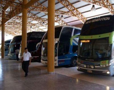 Trayecto provisorio para salida de buses desde la Terminal
