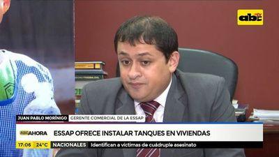 Essap ofrece instalar tanques en viviendas