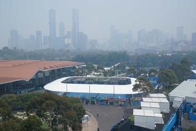 La contaminación en Melbourne por los fuegos afectan al Abierto de Australia