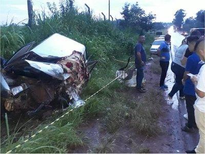 Accidente deja una víctima fatal en Presidente Franco