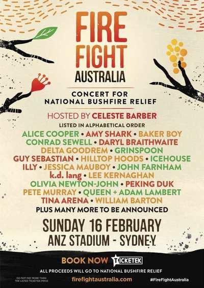 QUEEN retorna en el benéfico concierto en favor a Australia