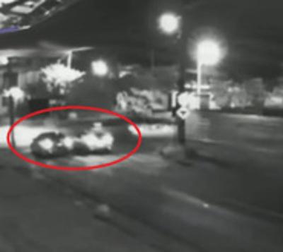 Atropelló a un motociclista y huyó del lugar