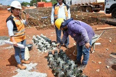 Efectúan estricto control de calidad de materiales en construcción del multiviaducto