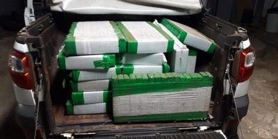 Cuatro paraguayos presos con 667 kilos de marihuana