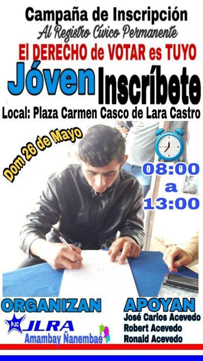 Inscripción cívica y atención ciudadana en barrio San Gerardo