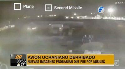 Nuevas imágenes comprueban que misiles impactaron contra avión ucraniano