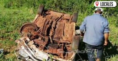 Una sujeto quedó con lesiones tras protagonizar un aparatoso accidente sobre la ruta sexta