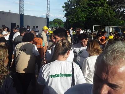 Campaña 'Salva Vidas, Sin Criaderos' se realizó en Lambaré con apoyo de la EBY
