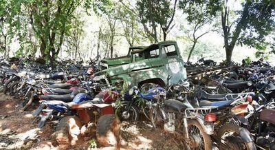 Policía solicita autorización para destruir motos incautadas hace años