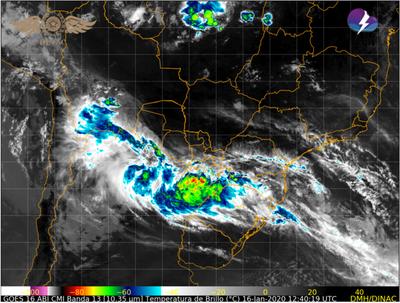 Alerta de tormentas para el Centro y Sur de la región Oriental