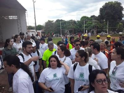 Con apoyo de la EBY, llegan con operativo contra el dengue a San Lorenzo
