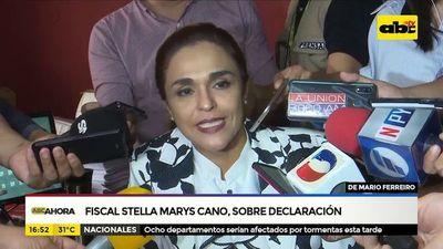 Fiscala Stella Mary Cano sobre declaración de Ferreiro