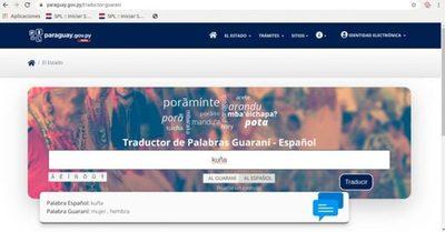 Secretaría dispone de traductor online guaraní