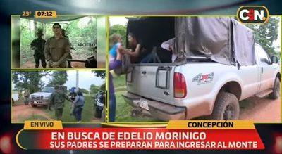 Familia de Edelio ingresa al monte con resguardo de policías y militares