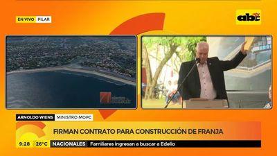 Firman contrato para construcción de franja costera de Pilar
